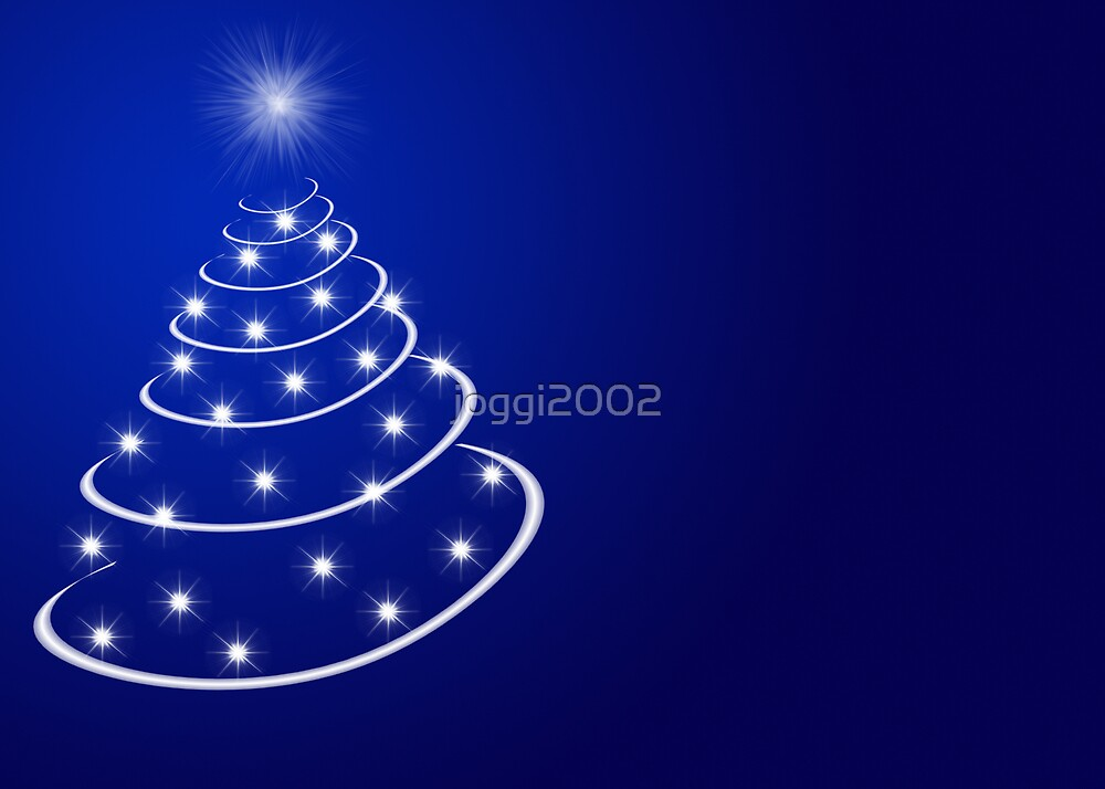 Christmas tree with stars by joggi2002