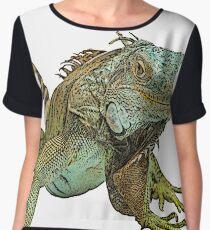 Graphic Iguana Women's Chiffon Top