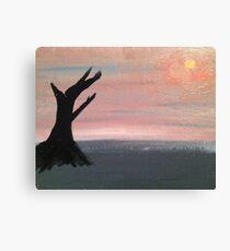 Desolate Sunset Canvas Print