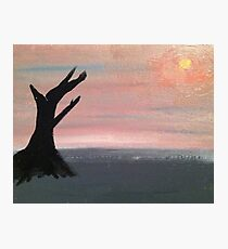 Desolate Sunset Photographic Print