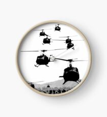UH1 Huey Helicopters Clock