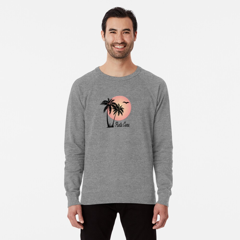 Punta Cana Souvenir Gift Dominican Republic Palm Lightweight Sweatshirt