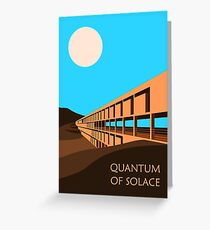 Quantum of Solace inspired design Greeting Card