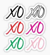 XO Stickers Set - 6 stickers Sticker