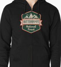 Bitterroot National Forest Zipped Hoodie