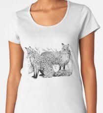 Leaf Foxes  Women's Premium T-Shirt