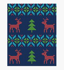 Knitted Reindeers Photographic Print