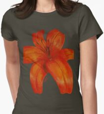 Orange Lily Women's Fitted T-Shirt
