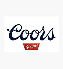 Coors beer Photographic Print