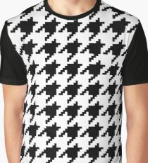 8 Bit Pixel Houndstooth Check Pattern Graphic T-Shirt