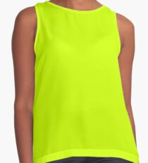 Bright green lime neon color Contrast Tank