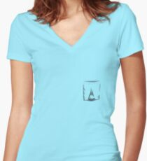 What Has it Got in It's Pocketses? Women's Fitted V-Neck T-Shirt