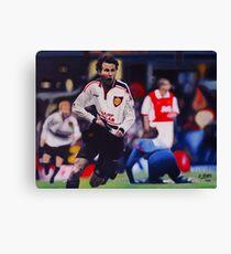 Giggs goal v Arsenal Oil on Canvas Canvas Print
