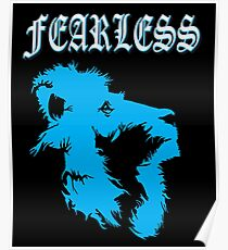 Lions Fearless Awesome animal for Men's Women's & Kids artbyjfg Poster
