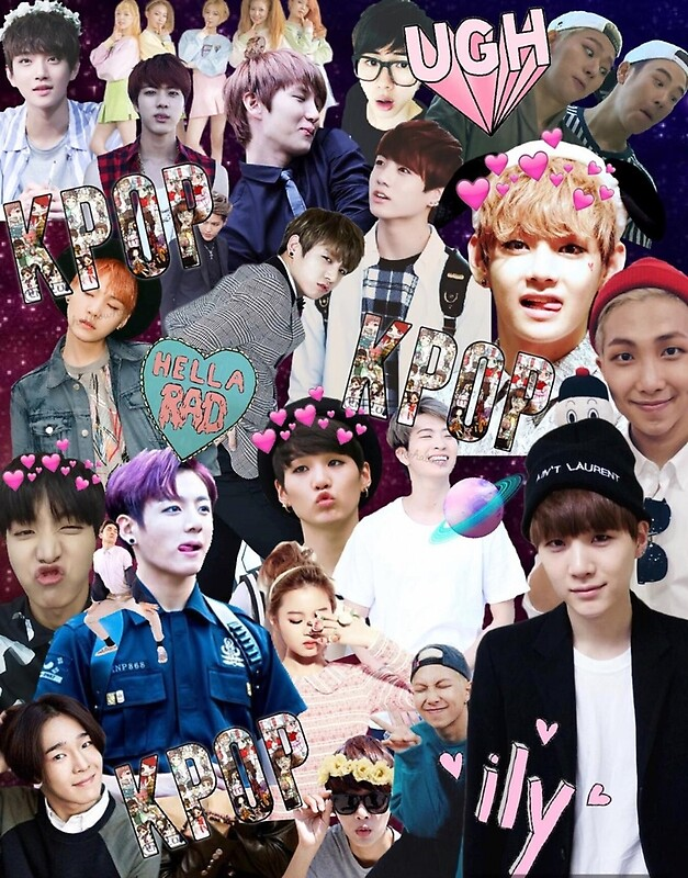 Quot Kpop Collage Quot By Animu Redbubble