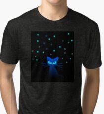 Glow in the Dark Cat Tri-blend T-Shirt