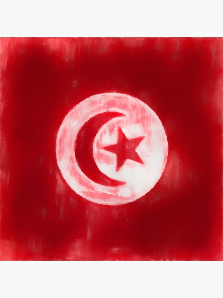 Tunisia Flag Reworked No. 1, Series 1 by 8th-and-f