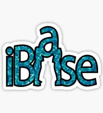 I BASE CHEER GLITTER BLUE Sticker