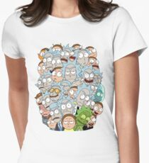 Rick and Morty - Outnumbered... Women's Fitted T-Shirt