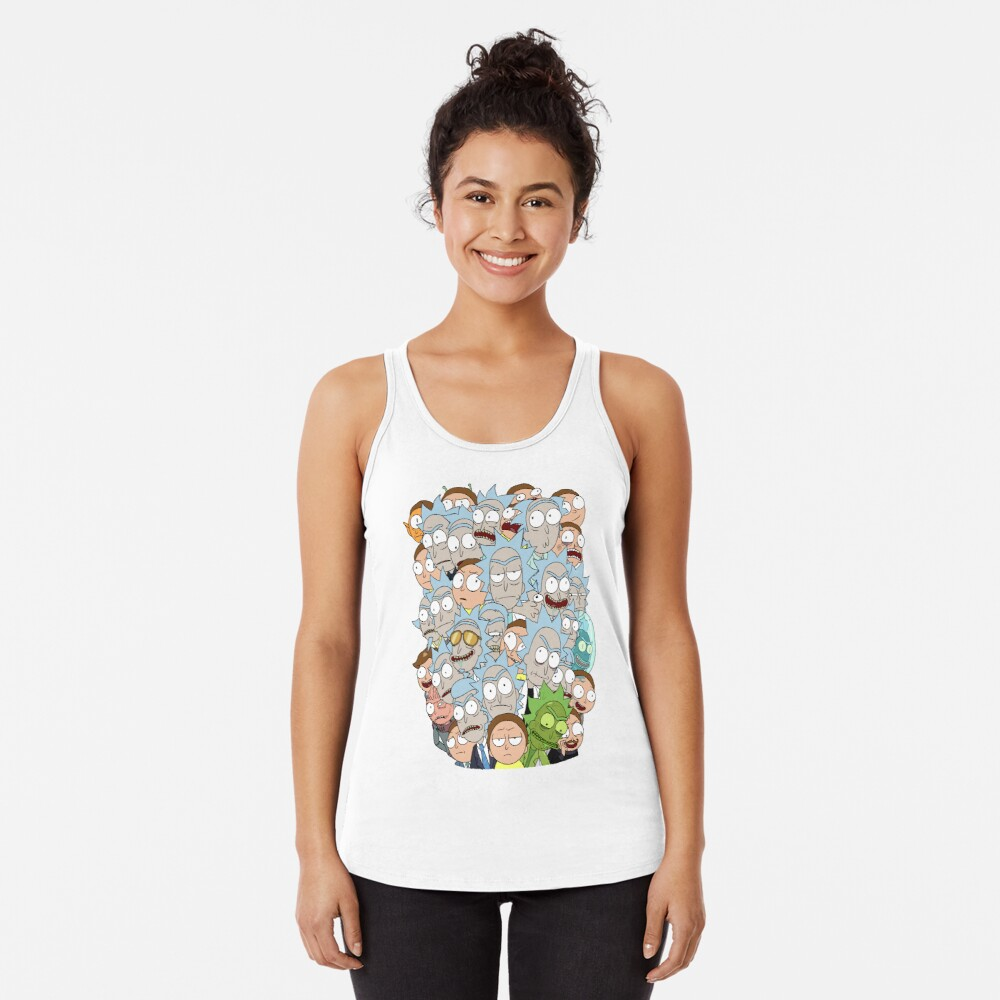 Rick and Morty - Outnumbered... Racerback Tank Top