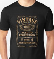 Golden Vintage Limited 1993 Edition - 25th Birthday Gift (2018 Birthday Version) Unisex T-Shirt