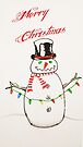 Merry Christmas SNOWMAN  by thatstickerguy