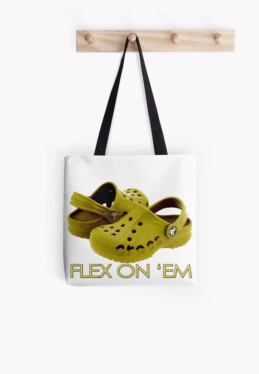 607b083074 'Gold Crocs to Flex 24 7' Tote Bag by apollosale