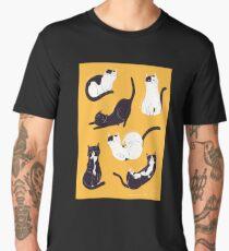 Outstanding Cats in Yellow Men's Premium T-Shirt