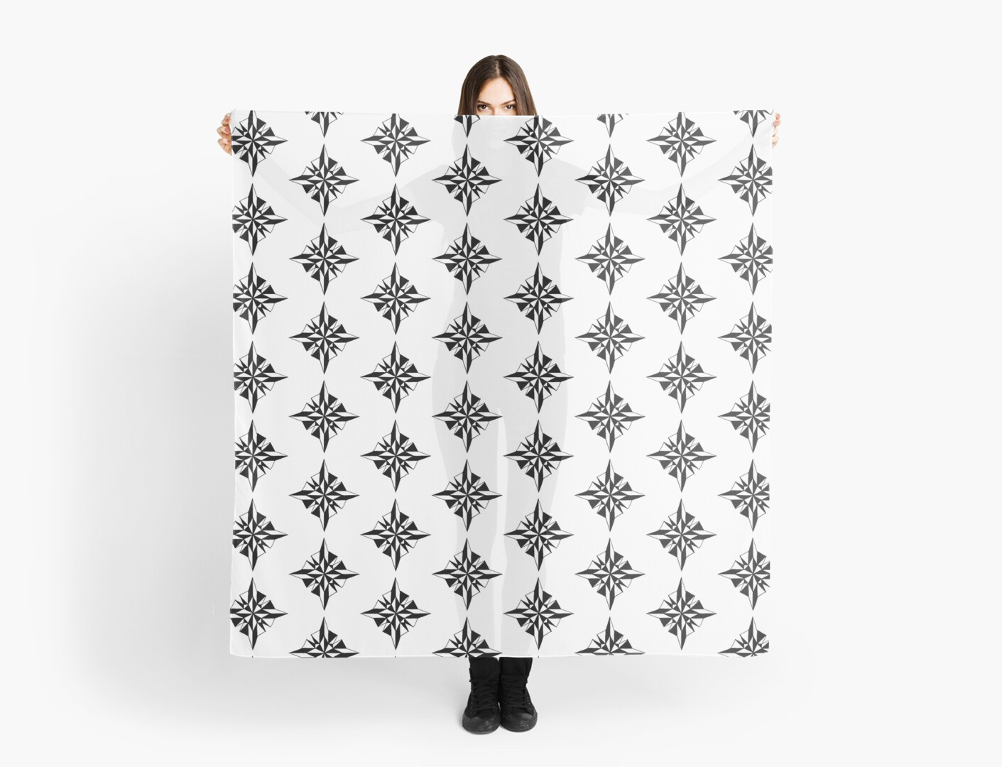 graph paper designs compass scarves by remarkablechaos redbubble