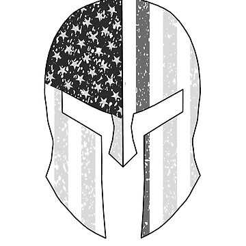 Thin Gray Line Corrections Officer Spartan Helmet by Terrystees