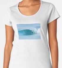 Bodyboarder surfing ocean wave Women's Premium T-Shirt