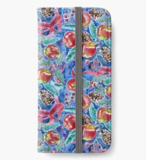 Watercolor Christmas Winter Apples Berries Fir Leaves Pinecones iPhone Wallet/Case/Skin