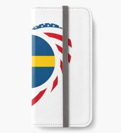 Swedish American Multinational Patriot Flag Series 2.0 iPhone Wallet