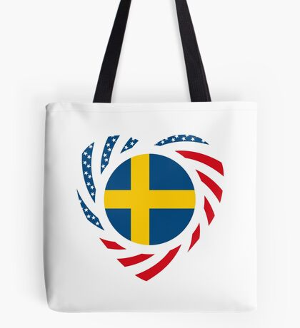 Swedish American Multinational Patriot Flag Series 2.0 Tote Bag