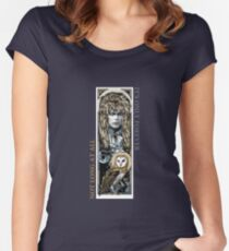 Labyrinth-Collage Tailliertes Rundhals-Shirt