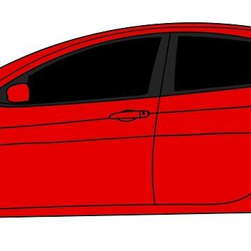 Dodge Dart TorRed Sticker by Jessimk