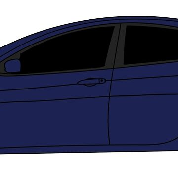 Dodge Dart True Blue Sticker by Jessimk