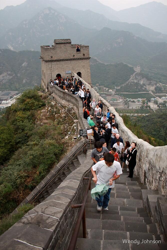 The Great Wall, Juyogguan Pass, China by Wendy Johnson