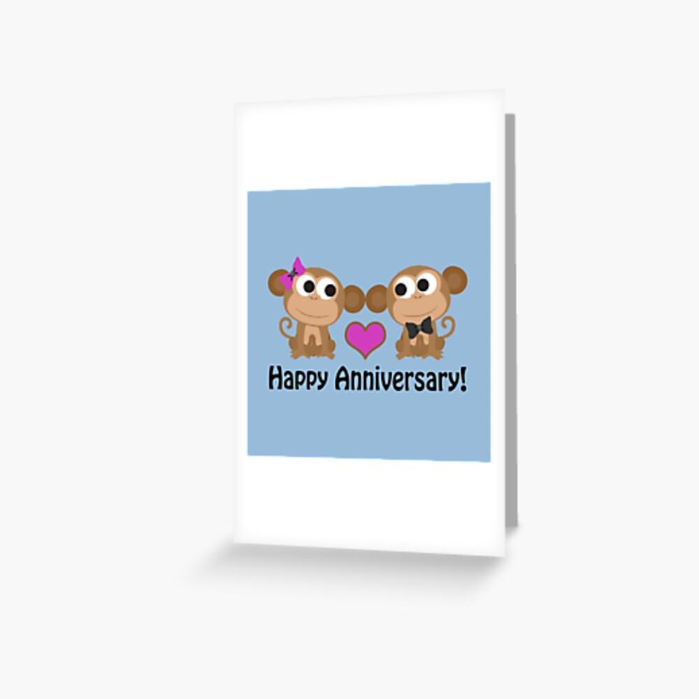 Happy Anniversary Affen Grußkarte