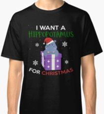 Hippopotamus For Christmas Gift Classic T-Shirt