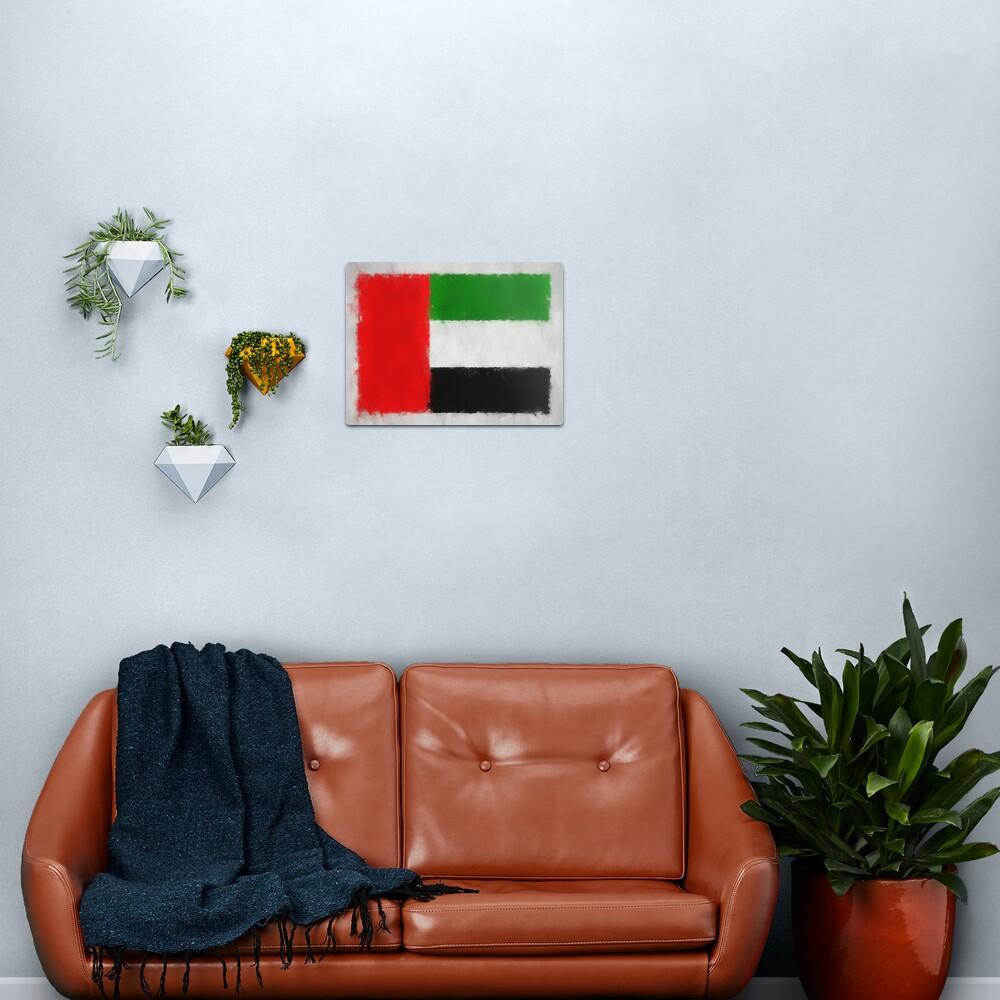United Arab Emirates Flag Reworked No. 66, Series 3 Metal Print