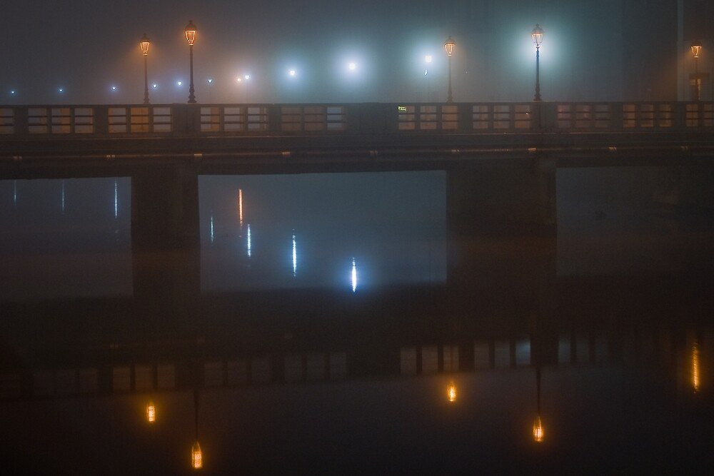 Fog on Misa river by Mauro Taraborelli