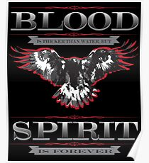 Blood Spirit Faith Family Friends Sports Farm Freedom Biker artbyjfg Poster