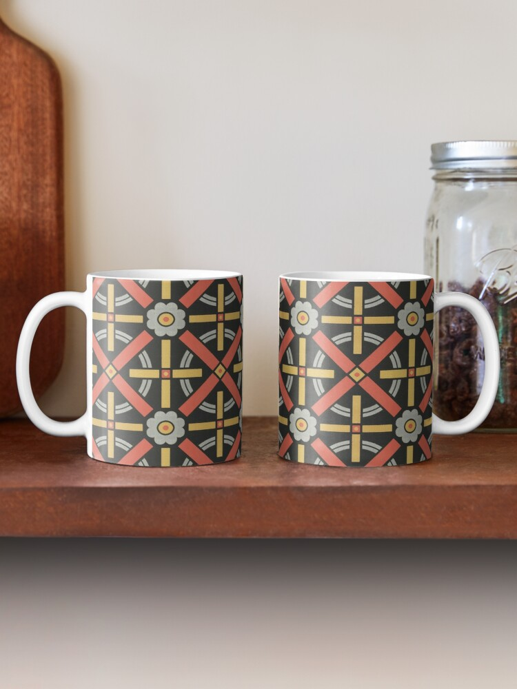 Alternate view of Bold geometric retro pattern designed by Christopher Dresser – State Library Victoria Mug