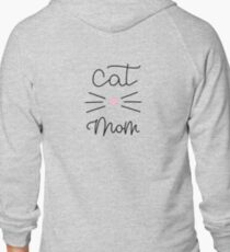 Cat Mom Zipped Hoodie