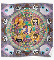 Phineas and Ferb Mandala Poster