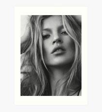 Kate Moss supermodel beauty portrait Art Print