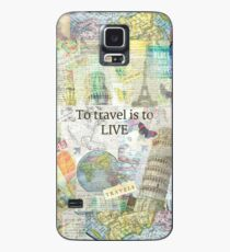 To Travel ls To Live quote Case/Skin for Samsung Galaxy