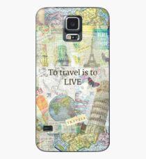 Zu reisen ls, um Zitat zu leben Hülle & Klebefolie für Samsung Galaxy