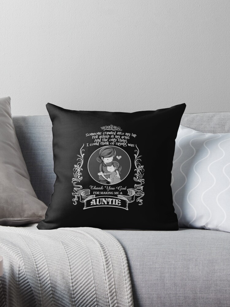 Best Auntie Birthday Gift Present Ideas Love T Shirt Throw Pillows